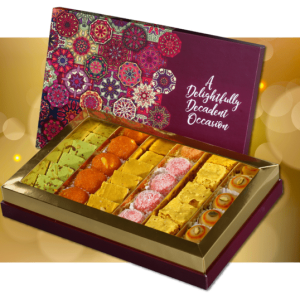 Classic sweet box from kamat shireen - diwali 2020